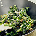 Broccoli Stir Fry Print by David Munns