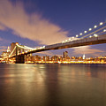 Brooklyn Bridge And Manhattan At Night Poster by J. Andruckow