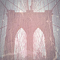 Brooklyn Bridge Red Print by Irina  March