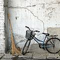 Broom and Bike Poster by Glennis Siverson