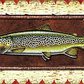 Brown Trout Lodge Poster by JQ Licensing