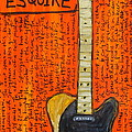 Bruce Springsteen's Fender Esquire Print by Karl Haglund