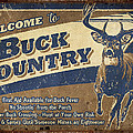 Buck Country Sign Print by JQ Licensing