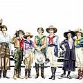 Buckin Horse Suffragettes Poster by Shirley Morris