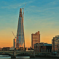 Building Shard Print by Jasna Buncic