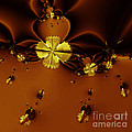Bumble Beez Over Chocolate Lake . Square . S19 Poster by Wingsdomain Art and Photography