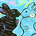 bunnies in love Poster by Patricia Lazar