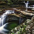 Buttermilk Falls State Park Print by Jeremy Martin
