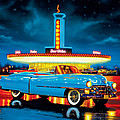 Cadillac Diner Print by MGL Studio - Chris Hiett