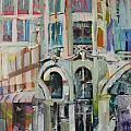 Cafe in Paris Print by Carol Mangano