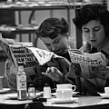 Cafe Papers Poster by Bert Hardy