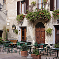 Cafe Seating in the Piazza di Spagna Print by Jeremy Woodhouse
