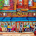 CAFE SECOND CUP TERRACE Poster by CAROLE SPANDAU