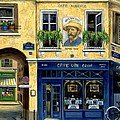 Cafe Van Gogh Poster by Marilyn Dunlap