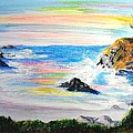California Coast Print by Susan  Clark