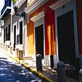 Calle Del Sol Old San Juan Puerto Rico Print by George Oze