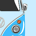 Camper Blue 2 Poster by Michael Tompsett