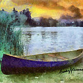 Canoe Poster by Anthony Caruso