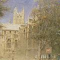 Canterbury Cathedral Print by Albert Goodwin