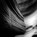 Canyon Curves in Black and White Print by Christine Till