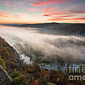 Canyon of Mists Print by Evgeni Dinev