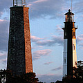 CAPE HENRY LIGHTHOUSES IN VIRGINIA Poster by Skip Willits