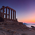 cape sounion Poster by Emmanuel Panagiotakis