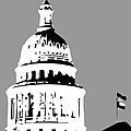 Capitol Dome BW3 Poster by Scott Kelley
