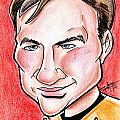 Captain James T. Kirk Print by Big Mike Roate