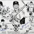Carl Yastrzemski Retirement Tribute Newspaper Poster Print by Dave Olsen