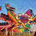 Carnival - A most colorful ride Poster by Mike Savad