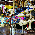 Carousel - Horse - Jumping Print by Paul Ward