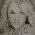 Carrie Underwood Drawing Poster by Michael Trujillo