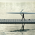 Carrying Single Scull Poster by Lynn Koenig
