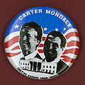 CARTER CAMPAIGN BUTTON Print by Granger