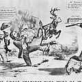 CARTOON: ELECTION OF 1856 Print by Granger
