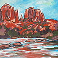 Cathedral Rock 2 Print by Sandy Tracey