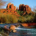 Cathedral Rock At Redrock Crossing Poster by Crystal Garner