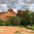 Cathedral Rock with Rock Plateau Print by Carol Groenen