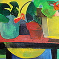 Cezanne Potting Stand Print by Betty Pieper