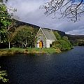 Chapel At Gougane Barra, Co Cork Print by The Irish Image Collection