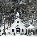 Chapel in the Snow - D007592 Print by Daniel Dempster
