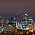 Charlotte Skyline 2012 Print by Brian Young