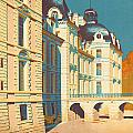 Chateau de Cheverny Print by Nomad Art And  Design