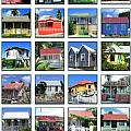 Chattel Houses of Barbados Poster by Barbara Marcus