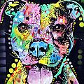Cherish The Pitbull Poster by Dean Russo