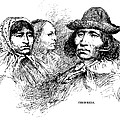 Cherokee Tribe. Engraved Portraits Poster by Everett