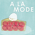 Cherry Pie a la Mode Poster by Linda Woods