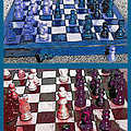 Chess Board - Game in Progress Diptych Print by Steve Ohlsen