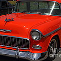 Chevrolet Bel-Air Stationwagon . Orange . 7D15268 Poster by Wingsdomain Art and Photography